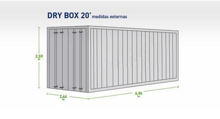 Modelo Dry Box 20 Pés